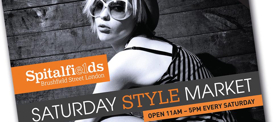 Spitalfields New Saturday Style Market Poster